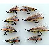 Fliegenfischen Lachs Fliegen Prime Monroe Killer Doppel Größen 4-8 Pack 6