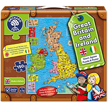 Orchard toys great britain ireland map jigsaw puzzle amazon orchard toys great britain ireland map jigsaw puzzle gumiabroncs Choice Image