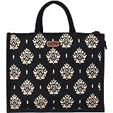 ECOTARA Jute Shopping & Vegetable Bag -Large(Black)