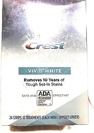 Crest 3D Whitestrips Vivid White Teeth Whitening Kit - 12-Count