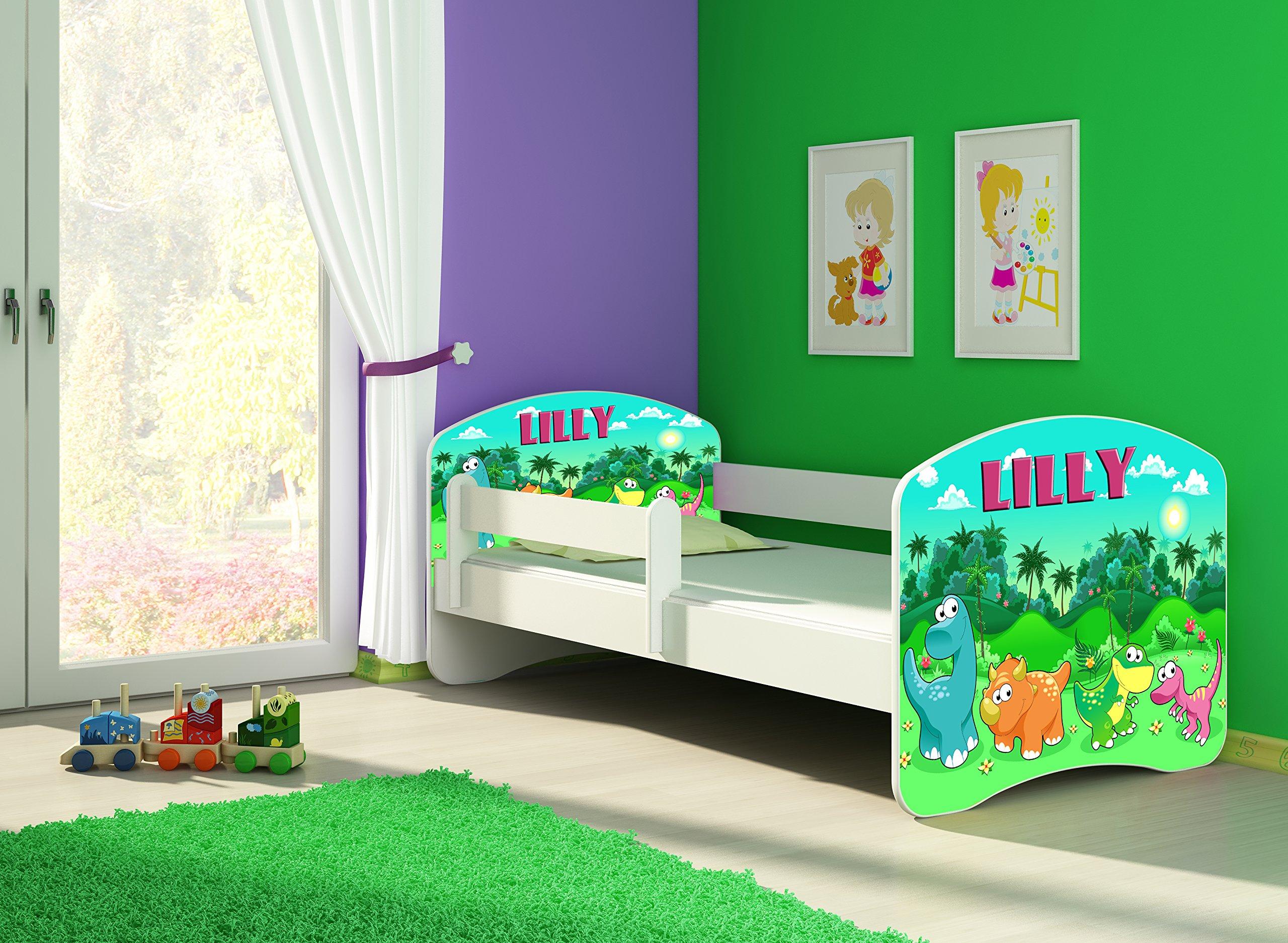 CHILDREN TODDLER KIDS BED + FREE MATTRESS 140x70 (30 Dinosaurs) ACMA  2