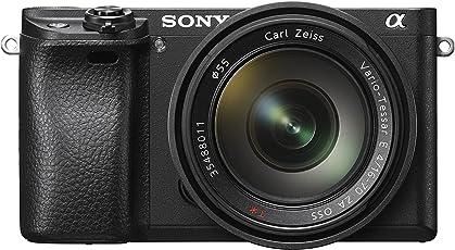 Sony Alpha 6300 E-Mount Systemkamera (24 Megapixel, 7,5 cm (3 Zoll) Display, XGA OLED Sucher) Zeiss Kit (16-70mm Objektiv) schwarz