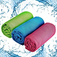 Cooling Towel 3 Pack Ice Towel, Quick Dry Fitness Towel Neckerchief for Instant Relief Cooling Neck Headband Scarf, Keep…