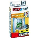 tesa Insect Stop Sun Protect Vliegenhor voor Ramen - Insectenhor, raamhor - Zonwerend - Snij op maat, met klittenband - Horra