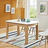 BAÏTA DAVIA140BL Table à Manger, Blanc, 140cm