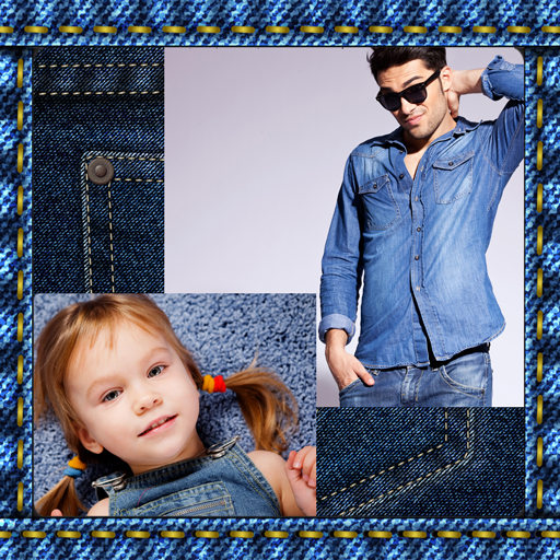 Jeans-Foto-Collage Jean-tasten
