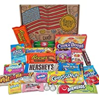 Heavenly Sweets American Candy and Chocolate Gift Box - Classic USA Tasty Treats - Perfect Gift for Children, Adults…