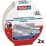 tesa Anti-slip tape, 5 m x 25 mm (2x transparant, 5mx25mm)