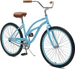 Critical Cycles 2360 Chatham Strand Cruiser für Damen - Himmelblau, 1-Gang/26 Zoll