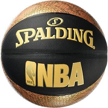 Spalding NBA Snake 76-039Z Balón de Baloncesto, Unisex, Negro/Dorado, 7