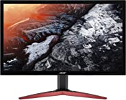 Acer KG241Pbmidpx 23.8 inch Full HD Gaming Monitor, (TN Panel, FreeSync, 144Hz, 1ms, DP, HDMI, DVI, Speakers) Black
