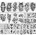 40 vellen Waterdichte Tijdelijke Tatoeages Bloemen en Dierencollectie Blijvende nep-Tatoeages voor Vrouwen en Meisjes of Kind