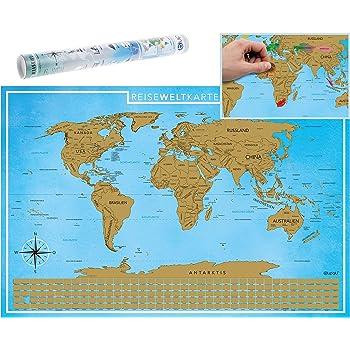 blupalu weltkarte world map poster f r pins gro xxl inkl f hnchen landkarte deutsch. Black Bedroom Furniture Sets. Home Design Ideas