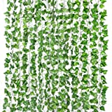 Yizhet Lierre Artificielle Exterieur Plantes Guirlande 2m Feuilles de Lierre Guirlande Plantes Artificielles, Lierre Plante A