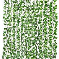 Yizhet Lierre Artificielle Exterieur Plantes Guirlande 2m Feuilles de Lierre Guirlande Plantes Artificielles, Lierre…