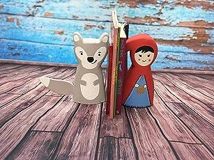 Kaasht Kids Wooden Handicraft Cute Red Riding Hood Bookend