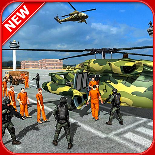 Armee Criminals Transport - Polizei Flugzeug Simulator -