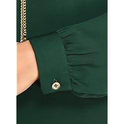 oodji Collection Mujer Blusa de Tejido Fluido con Decoraci n Met lica