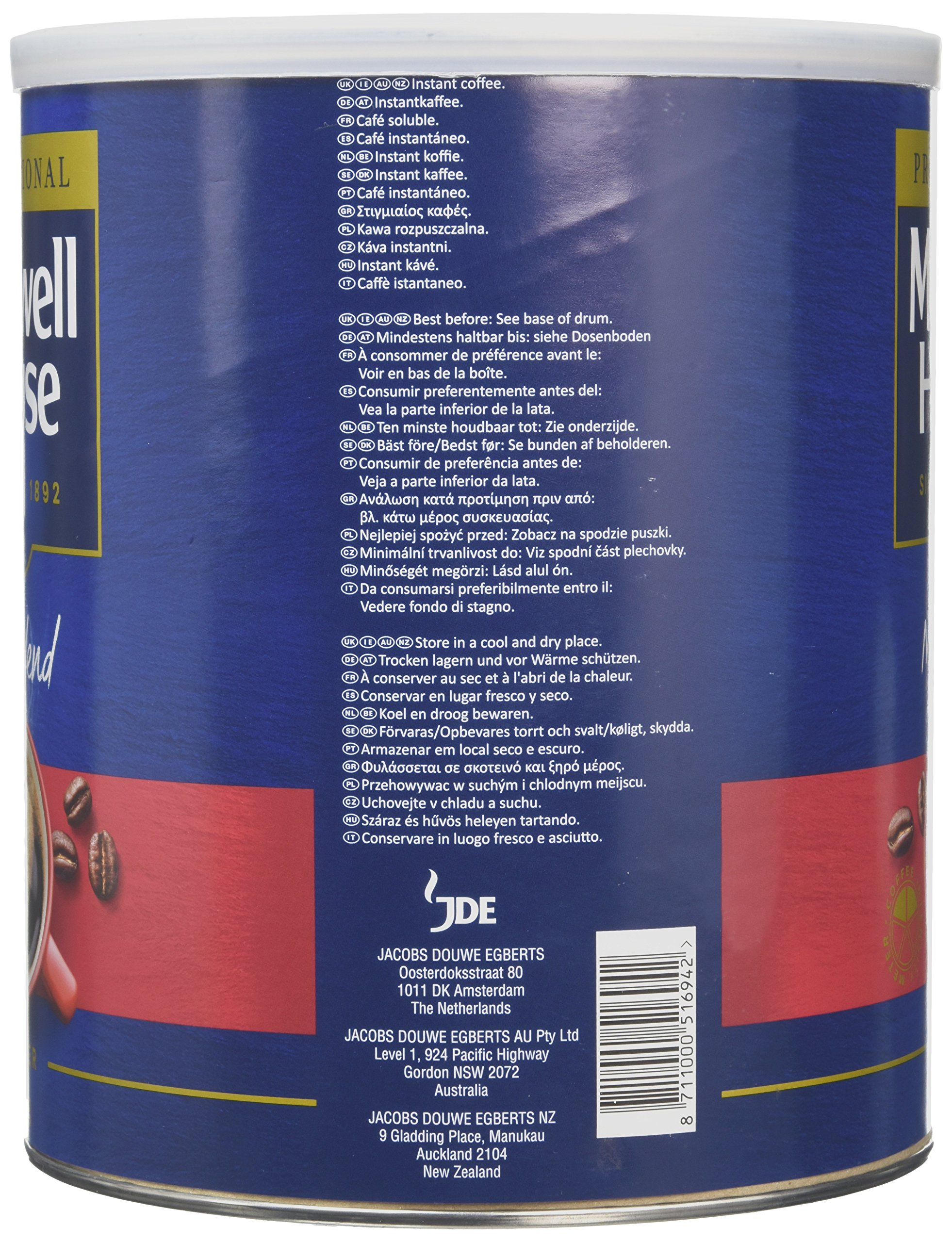 Maxwell House Mild Coffee Powder Tin 750 g (Pack of 1)
