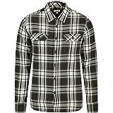 Mountain Warehouse Trace Camicia a Manica Lunga in Flanella Uomo - 100% Cotone, Leggera, Traspirante - Perfetta per Viaggi e