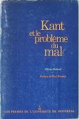 Kant et le probleme du mal [Unknown Binding] by Reboul, Olivier Broché