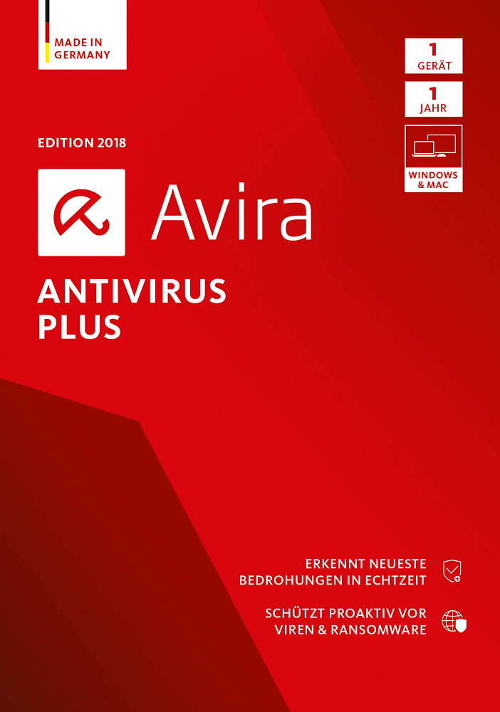 Abonnement-programm (Avira Antivirus Plus Software Edition 2018 / Sicheres Virenschutzprogramm (Jahres-Abonnement) für 1 Gerät / Download für Windows (7, 8, 8.1, 10) und Mac [Online Code])