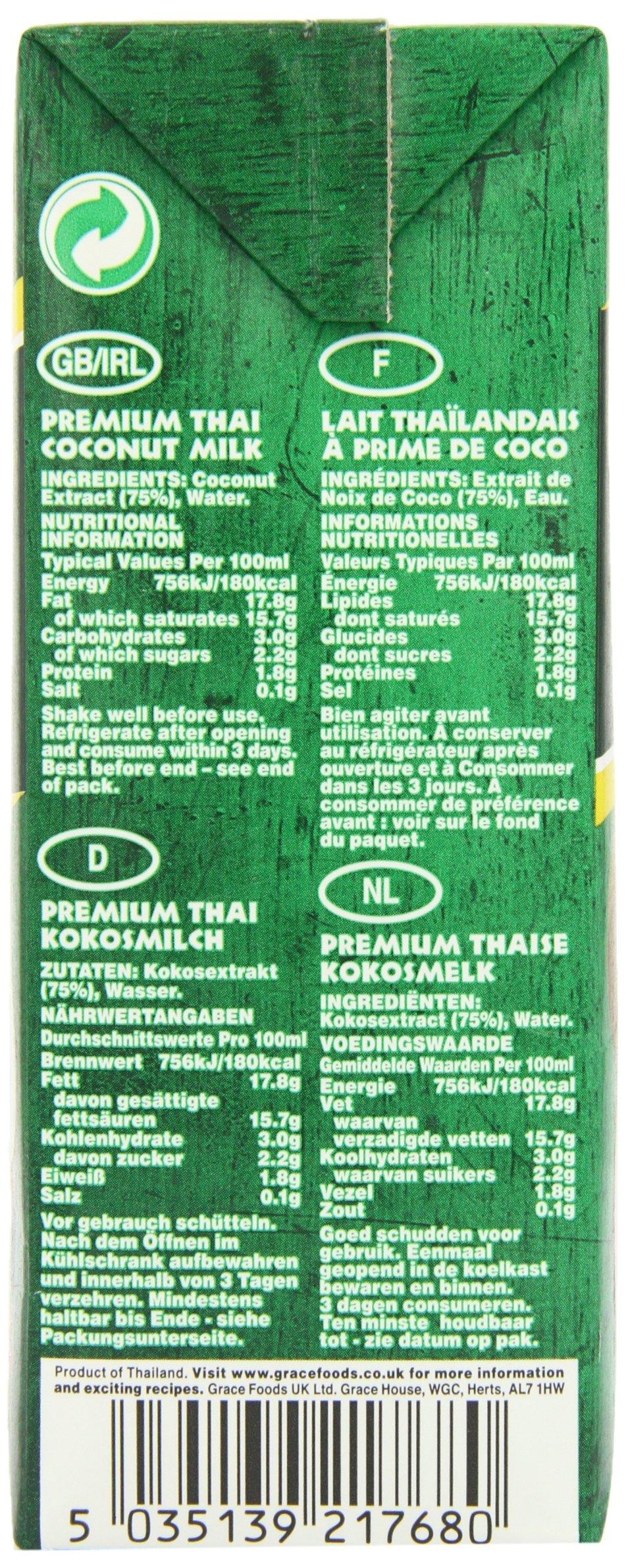Grace Premium Coconut Milk 1 Litre (Pack of 12) 4
