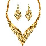 Touchstone Indian Bollywood Intricato Lavorato Look Diamante Strass Cristallo Colorato Wedding Designer Collana di Gioielli i