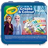 CRAYOLA-LA Reine des NEIGES 2 Valigetta Crea & Colora Disney Frozen 2, per disegnare e colorare, 50 Pezzi, Colore…