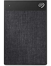Seagate Backup Plus Ultra Touch 2 TB External Hard Drive Portable HDD – Black USB-C USB 3.0, 1yr Mylio Create, 2 Months Adobe CC Photography - Black (STHH2000300)