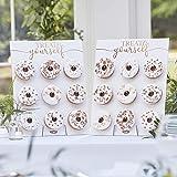 Ginger Ray Botaniskt bröllop donut väggpaneler, bronsfärgad, folierad, 2 paneler, lämplig för 18