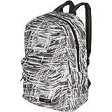 حقيبة ظهر مدرسية للأطفال بنمط تجريدي باللون الأبيض والأسود من إم جي جير 17 بوصة، حقيبة كتب للطلاب