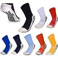 Rhino Gadget Football Grip Socks Anti Non Slip Low Calf Cushion Crew with Grip Rubber Pads