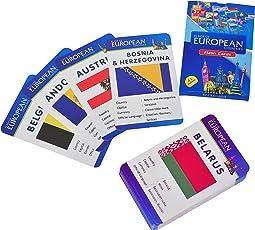 Baski Toys Flags of European Countries - Flash Cards (10 cm x 15 cm x 1.5 cm)
