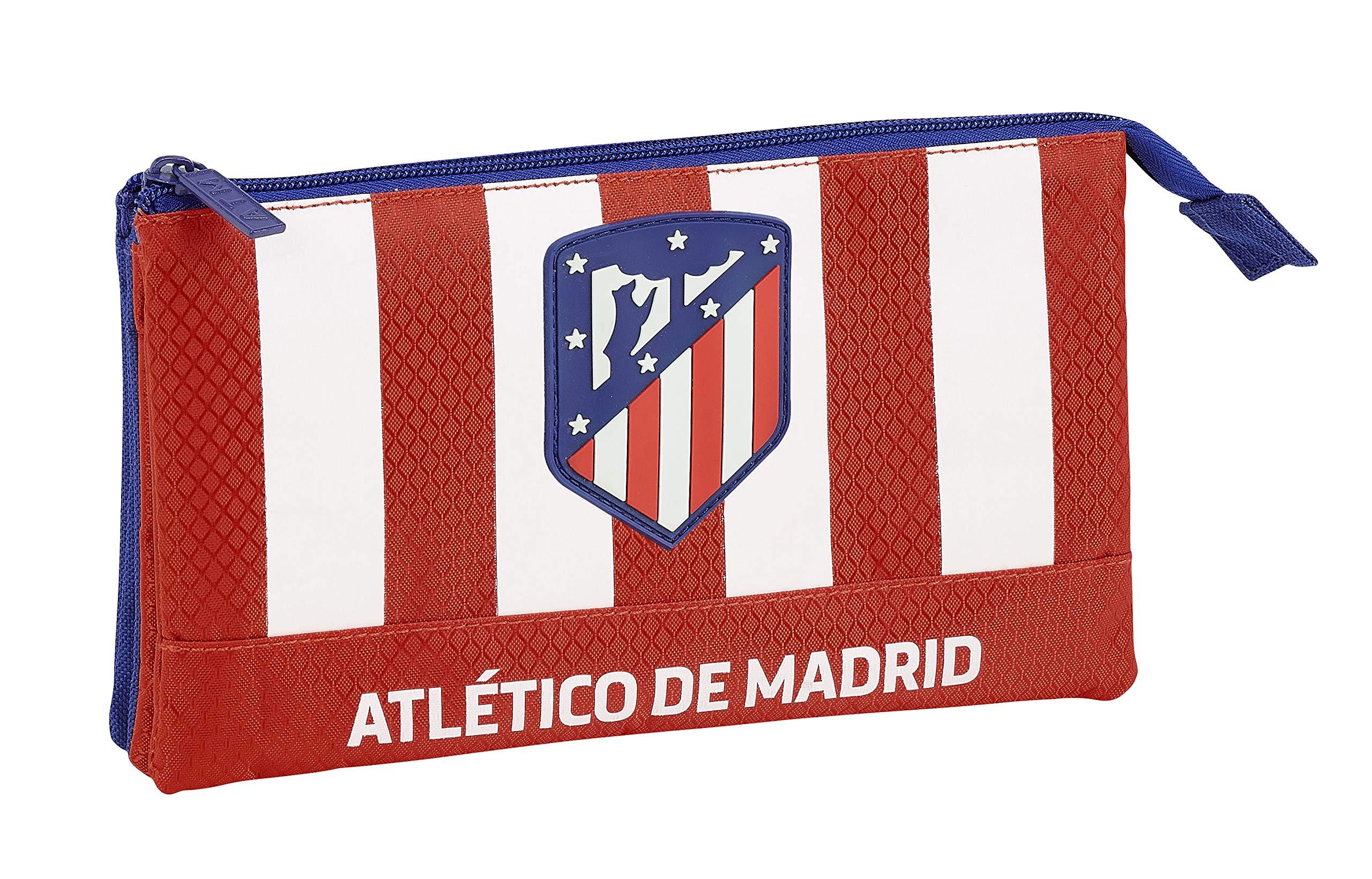 Atlético de Madrid Estuche portatodo Triple Escolar.