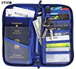 EVIZO Passport Holder, Travel Wallet Case Cover Water-Resistant Organizer Bag to Carry Multiple Passports, Money, Credit...