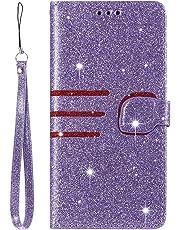 Lomogo Blink Huawei P30 Lite/nova 4e Case Leather Wallet Case with Kickstand Card Holder Shockproof Flip Case Cover for Huawei P30Lite / nova4e - LOHHA110275 Purple