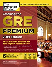 The Princeton Review Cracking the GRE 2019: The All-in-one Solution for Your Highest Possible Score