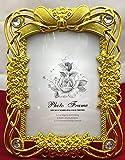 Plastic Unique Design Photo Frame with Royal Golden Border