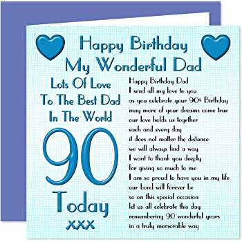 Dad 90th Happy Birthday Card