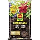 Compo Sana Universal de Calidad para macetas con 12 semanas de abono para Plantas de Interior, terraza y jardín, Substrato de
