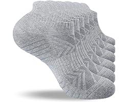 Benirap Running Socks, Cushioned Trainer Socks Sports Socks for Men Women Cotton Socks Ladies Ankle Socks Low Cut Athletic So
