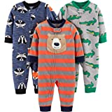 Simple Joys by Carter's 3-Pack Loose Fit Flame Resistant Fleece Footless Pajamas Bambino