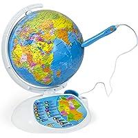 Clementoni 69492 Galileo Science – Interaktiver Globus mit App, sprechende Weltkugel mit Fragen & Fakten, Spielzeug für…