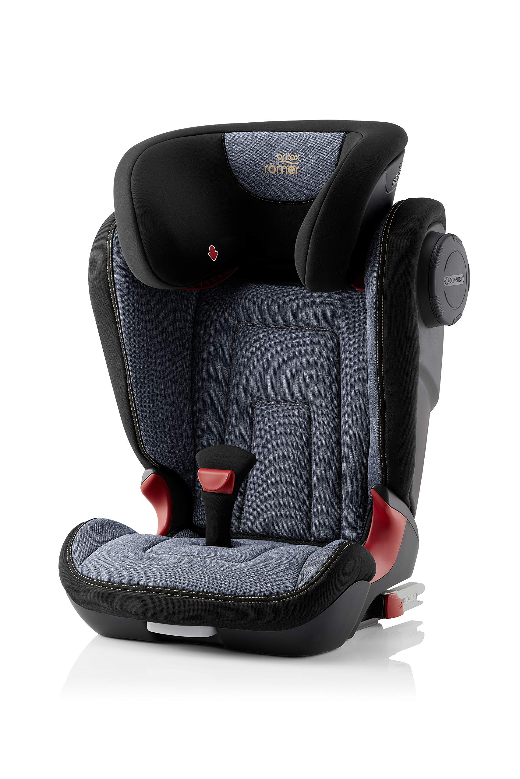 Britax Römer KIDFIX² S Group 2-3 (15-36kg) Car Seat - Blue Marble Britax Römer Advanced side impact protection - sict offers superior protection to your child in the event of a side collision. reducing impact forces by minimising the distance between the car and the car seat. Secure guard - helps to protect your child's delicate abdominal area by adding an extra - a 4th - contact point to the 3-point seat belt. High back booster - protects your child in 3 ways: provides head to hip protection; belt guides provide correct positioning of the seat belt and the padded headrest provides safety and comfort. 1