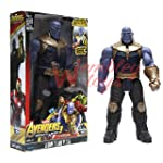 Marvel and Justice League Comic/Movie Super Hero Legends - 12 Inch Action Figure Toy with Sound and Batteries (Thanos)