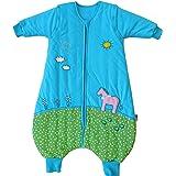 Schlummersack Schlafsack mit Beinen Vierjahreszeiten in 2.5 Tog mit abnehmbaren Ärmeln - Pony - 3-4 Jahre/110 cm