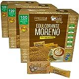 EDULCORANTE MORENO DULCILIGHT 300 Sobres, Natural Granulado de Caña,con Dispensador y Fibra Vegetal|1GR = 10GR azúcar|EL Sabo