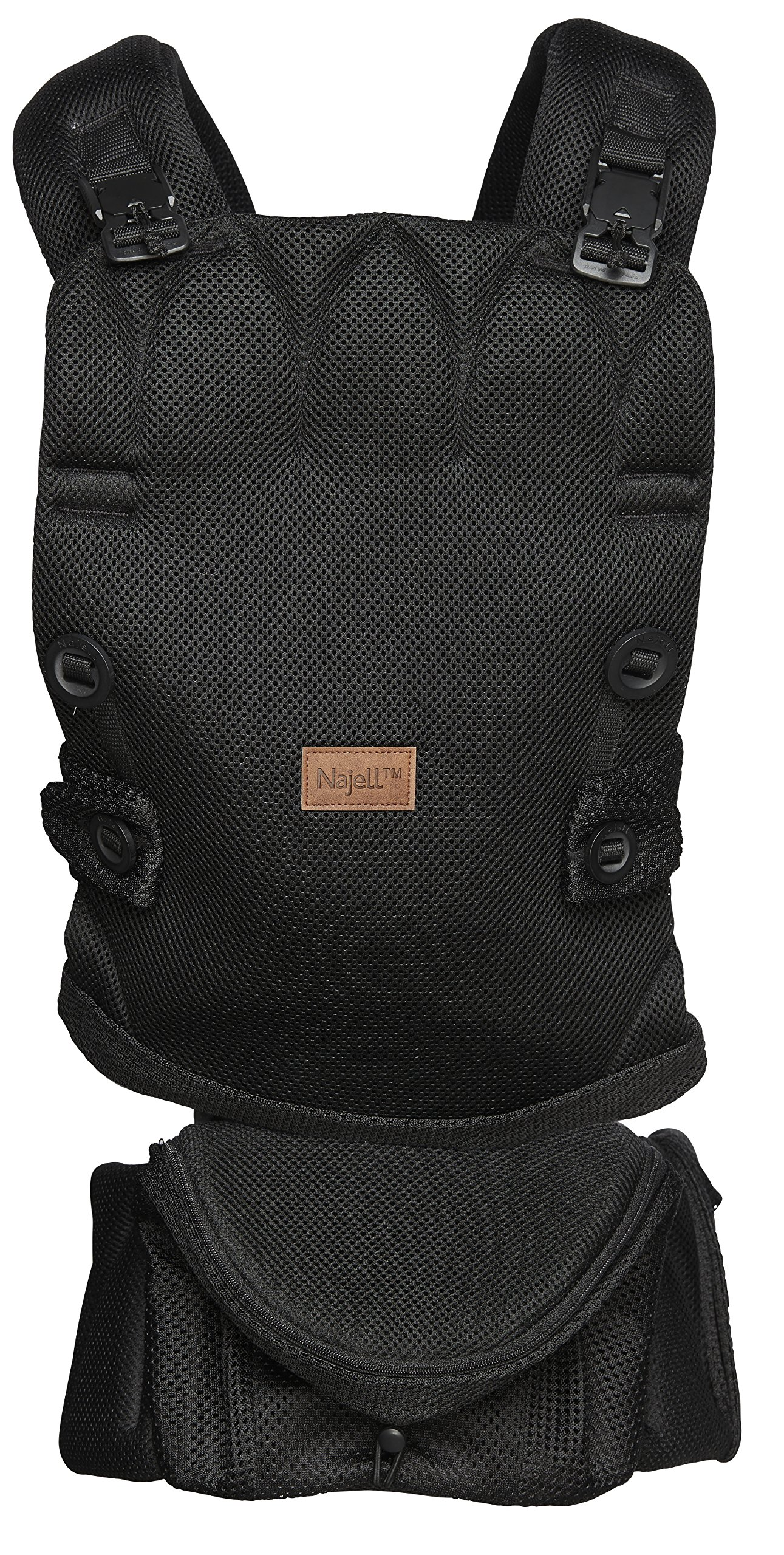 Najell Omni Active Mesh Baby Carrier with Hip Seat, Brilliant Black Béaba New-born ergonomic position and hips seat from 6 months. Market leading weight distribution with hip seat, recommended by the international hip dysplasia institute as a hip-healthy baby carrier Weight: 3, 5 to 15 kg and age: new-born to 3 years. 2