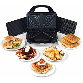 Lige ud Tefal XA800312 Snack Collection Grill/Panini Maker Non Stick GY81